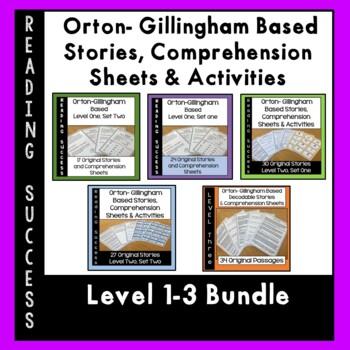 Orton Gillingham Bundle Levels 1-3