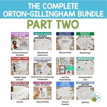 Orton-Gillingham Bundle- The Complete O.G. PART TWO Multisensory Phonics