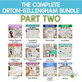 Orton-Gillingham Resources The Complete O.G. PT. 2 Bundle Lesson Plan Activities