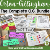 Orton-Gillingham Resources The Complete O.G. PT. 2 Bundle Lesson Plan Activities
