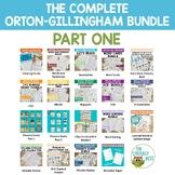 Orton-Gillingham Bundle- The Complete O.G. Part 1 Lesson Plan Activities