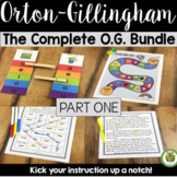 Orton-Gillingham Bundle- The Complete O.G. Part 1 Lesson Plan Activities