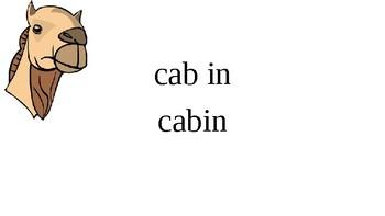 Orton Gillingham Camel Words