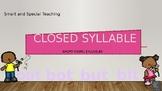 Orton Gillingham Closed Syllable Powerpoint (CVC Words)