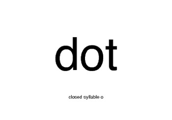 Orton-Gillingham Closed Syllable o Cards