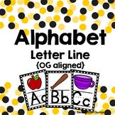 Orton Gillingham Compatible Alphabet Line