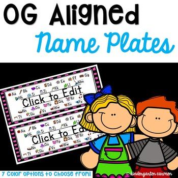 Orton Gillingham Compatible Name Plates *Editable*