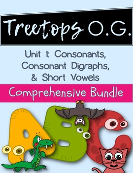 Orton Gillingham Complete Curriculum Unit 1: Consonants, Digraphs & Short Vowels