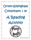 Orton Gillingham Consonant + le: A Reading Activity