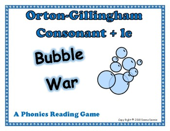 Orton Gillingham Consonant + le: Bubble War A Reading Activity