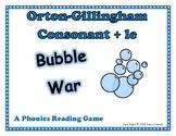 Orton Gillingham Consonant + le: Bubble War A Reading Activity