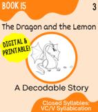 Orton-Gillingham Decodable Book 15: VC/V Syllabication