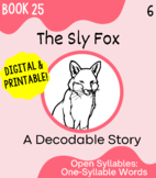Orton-Gillingham Decodable Book 25: Open Syllables in 1 Syllable Words