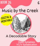 Orton-Gillingham Decodable Book 26: Open Syllables VC/V