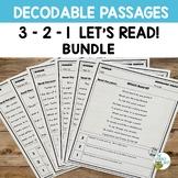Orton-Gillingham Resources Decodable Passages 3 2 1 BUNDLE