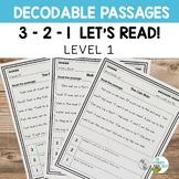 Orton-Gillingham Decodable Passages | 3-2-1 Set Level 1