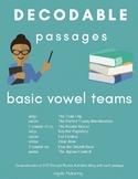 Orton-Gillingham: Basic Vowel Teams Decodable Passages