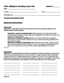 Orton-Gillingham Detailed Lesson Template
