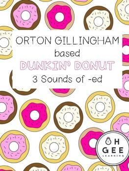 Orton-Gillingham- Donut 3 Sounds of -ed Pack