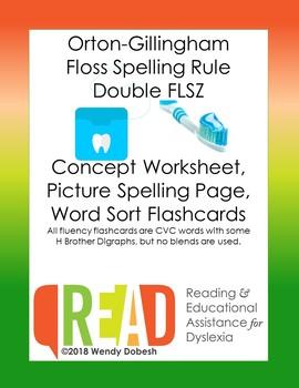 Orton-Gillingham FLOSS (FLSZ) Spelling Rule Bundle