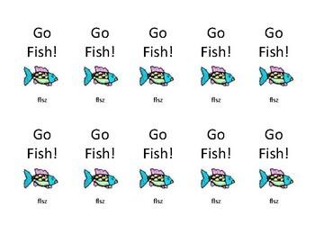 "Orton Gillingham FSZL ""FLoSS"" rule Go Fish Card game"
