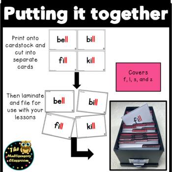 Orton-Gillingham Floss Rule Word Cards