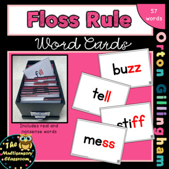 Orton-Gillingham Floss Rule Word Cards
