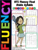 Fluency Activities Final Stable Syllable (Consonant le)