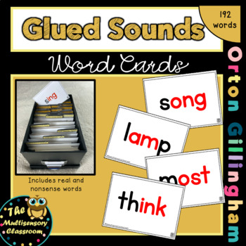 Orton-Gillingham Glued Sounds Word Cards