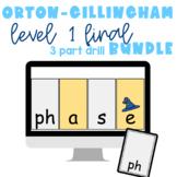 Orton-Gillingham Phonics for Google Slides 3 Part Drill BUNDLE