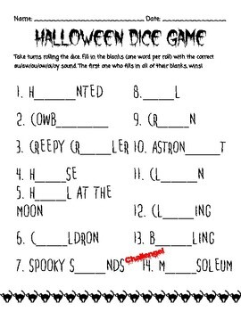 Orton Gillingham Halloween: Diphthongs and Advanced Vowel Patterns