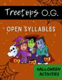 Orton Gillingham Halloween: Open Syllables