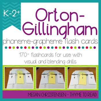 Orton-Gillingham 3x5 Phoneme Grapheme Card Pack