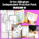 Orton Gillingham Independent Practice Activities: Level 1