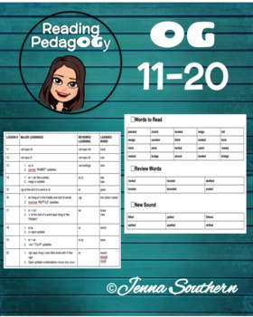 Orton-Gillingham Individualized Lessons #11-20 with Decoding and Encoding