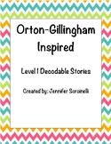 Orton Gillingham Inspired Level 1 Decodable Stories