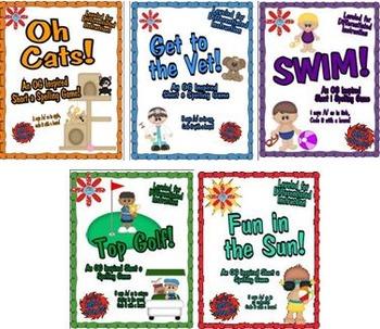 Orton Gillingham Inspired Short Vowels Spelling Board Game Set