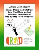 Orton-Gillingham Learned Word / Sight Word Study Method Visual Procedure Handout