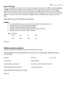 Orton-Gillingham Lesson 10, Detailed & Explicit Instruction for v, w, x, y, & z
