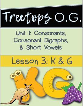 Orton Gillingham Lesson K and G