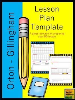 Orton-Gillingham Lesson Plan
