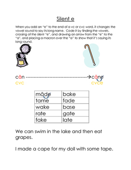 """Multisensory Lesson Plan For Teaching the Silent """"e"""" Syllable"""