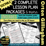 Orton-Gillingham Lesson Plan Template and Additional Resources