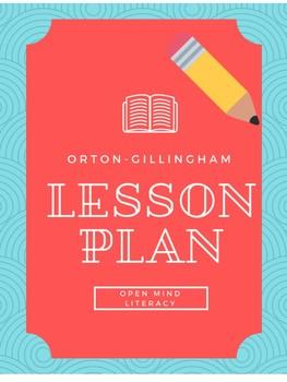 Orton Gillingham Lesson Plan (includes Error Analysis Page)