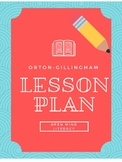 Orton Gillingham Lesson Plan (includes Error Analysis Page)