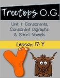 Orton Gillingham Lesson Y