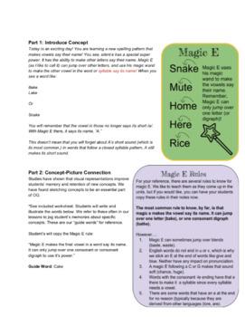 Orton Gillingham Lesson: aCe, a Magic E