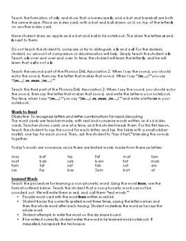 Orton-Gillingham Lessons 1-10, BUNDLE III: Detailed & Explicit Plans for Reading