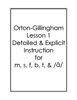 Orton-Gillingham Lessons 1-5 Bundle: Detailed & Explicit P