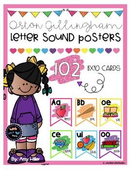 Letter Sound Posters [Orton Gillingham]